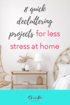 Little pockets of clutter in my house were stressing me out and making my life harder. These quick and easy decluttering projects helped make my life at home easier and less stressful. I decluttered important parts of my home that were making me waste time and energy. I'm so glad I decluttered!