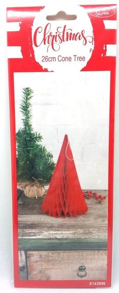 Honeycomb Cone Tree | Red Hanging Decoration | Wedding Party Products