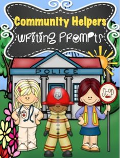 37 Community Helpers writing prompts. I LOVE that it includes 12 community helpers buildings (courthouse, firehouse, movie theatre, etc). Perfect for my unit!