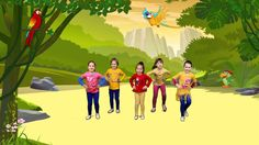 Another rhythm movie clip for practising reading! This time I have the same rhyt… Another rhythm movie clip for practising reading! This time I have the same rhythmic pattern appearing every second frame – Rondo Form. I have coloured this … Physical Activities For Kids, Gross Motor Activities, Music Activities, Preschool Activities, Camp Songs, Kids Songs, Just Dance Kids, Zumba Kids, Jungle Music