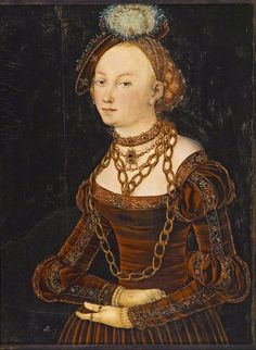 Lucas Cranach the Elder (1472-1553) — Christiana Eulenau, c.1540 :  Winnipeg Art Gallery, Manitoba. Canada    (878×1201)