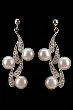 Splendid Pearls 6mm-7mm Freshwater Pearl Fancy Earrings In White - Beyond the Rack