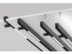 Buy online Spot tracking By flos, led aluminium track-light, architectural collection - systems Collection Track Lighting Bedroom, Modern Track Lighting, Modern Lighting Design, Linear Lighting, Lighting System, Interior Lighting, Ceiling Light Design, Ceiling Lights, Spot Design