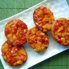 Bell Pepper Bruschetta Crostini recipe