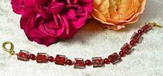 Red Agate & Murano Glass Bracelet £22.75