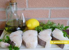 The Recipe for Cod Salad with Lemon and Parsley   Salads & Snacks   Genius cook - Healthy Nutrition, Tasty Food, Simple Recipes