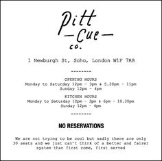 Pitt Cue Co - London