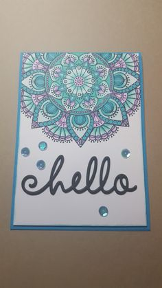 Cool Cards, Diy Cards, The Ton Stamps, Stamp Tv, Homemade Greeting Cards, Mandala Artwork, Marianne Design, Pretty Cards, Card Tags