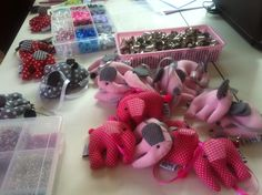 The little hangings elephants are almost finished #Thailand #Fairtrade #handmade