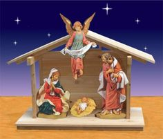 "Fontanini Nativity - 27"" Masterpiece Collection Holy Manger Scene With Outdoor Nativity Stable $3,799.00 Outdoor Nativity Stable proudly made in USA  Outdoor Nativity Stable is a Christmas Night exclusive."