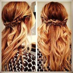 Half up half down - braided