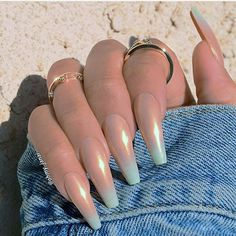 There are three kinds of fake nails which all come from the family of plastics. Acrylic nails are a liquid and powder mix. They are mixed in front of you and then they are brushed onto your nails and shaped. These nails are air dried. Sexy Nails, Dope Nails, Prom Nails, Nails On Fleek, Solid Color Nails, Nail Colors, Manicure Colors, Gorgeous Nails, Pretty Nails