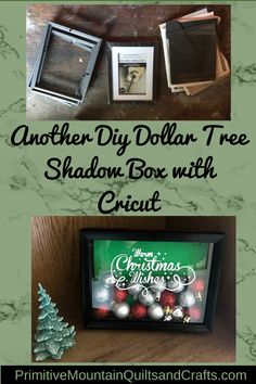 Another Diy Dollar Tree Shadow Box with Cricut - - This idea borders on genius if you want to make your own shadow box. So simple! So cheap! Let me show you how I did another diy dollar tree shadow box. Dollar Tree Frames, Dollar Tree Gifts, Dollar Tree Decor, Diy Shadow Box, Shadow Box Frames, Shadow Tree, Wordpress Theme, Dollar Tree Cricut, White Christmas