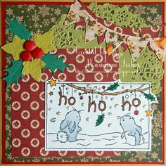 LOTV - Ho Ho Ho Bunnies by Marianne Fisher August Challenge, Stamped Christmas Cards, Fisher, Bunnies, Cardmaking, Stamps, Challenges, Holiday Decor, Fun
