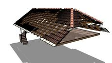3D Model of Roof ( Krovište ) - dalmatinska zagora