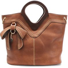 HANDBAG /GOLD-TONE HARDWARE /POLYURETHANE/INSIDE TWO ZIP TWO OPEN POCKETS/WOODEN HANDLE/HANDLE DROP 4 INCH / H 12.5 INCH X W 15.