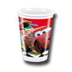 8 Copos Festa Disney Cars