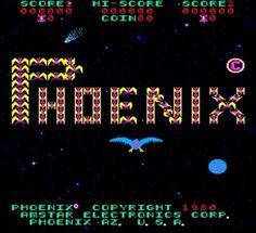 Phoenix arcade game title screen