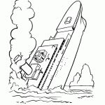titanic coloring pages for kids print and color the pictures cakepinscom