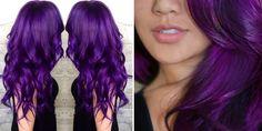Εντυπωσιακά μωβ μαλλιά με VIOLET από Directions-με tutorial!