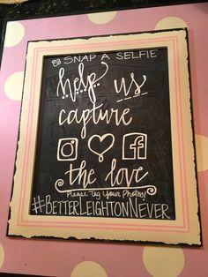 Social media wedding chalkboard