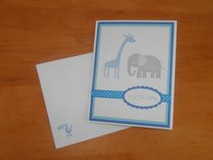 "Stampin Up ""Zoo Babies"" Handcrafted Greeting Card Perfect For Baby Showers and New Babies on Etsy, $2.78 AUD"