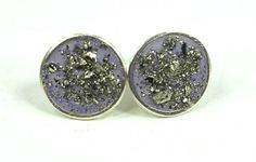 New Studs Ready for Valentines Day! Pretty Purple Glitzy Cement/Concrete and by AshleyMRayDesigns, $50.00