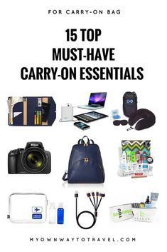 Whether a short flight or long flights or traveling by bus or train you just can't ignore to pack some carry-on essentials in a This post is to show you the importance of some carry-on must-have items no matter where you travel. Travel Items, Travel Gifts, Travel Bags, Travel Products, Travel Gadgets, Travel Stuff, Travel Advice, Carry On Bag Essentials, Travel Essentials For Women