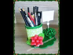 DIY- Porta Lápis  utilizando materiais recicláveis