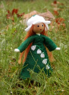 Miniature Birthday Flower Doll - May Lilly of the Valley - by  Wildflower Innocence Made in the USA