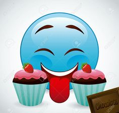 In same serie with 82113394 emoticon concept Emoticon, Yummy Emoji, Smileys, Gifs, Clipart, Royalty Free Images, Smurfs, Illustration, Cool Pictures