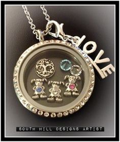 Relicario (locket) $38 charms $5 c/u http://www.southhilldesigns.com/zoryrodz