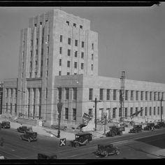 Long Beach California, California Art, Masonry Blocks, Works Progress Administration, Art Deco Buildings, Beach Art, Post Office, Art Deco Fashion, Signal Hill