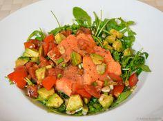 Regenbogenforelle mit Chili-Avocado Vinaigrette - Katha-kocht!
