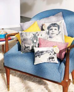 35+ Creative DIY Ways to Display Your Family Photos --> Photo Throw Pillow