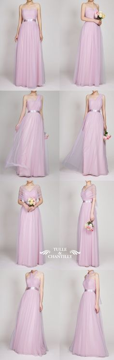 long tulle lavender blush bridesmaid dresses from  tullechantilly Lilac  Wedding 546336557573