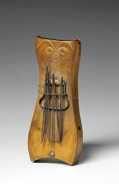 Africa Musical Instrument a thumb piano from the Tsogho people of Gabon early 20th century Wood and iron.