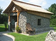 stone gabion shed