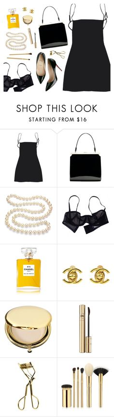 """""""The Little Black Dress"""" by amalieknygberg ❤ liked on Polyvore featuring DaVonna, Eres, Christian Louboutin, Chanel, Estée Lauder, Dolce&Gabbana, MAC Cosmetics and tarte"""