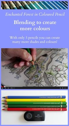 Passion for Pencils: The Tree Trunk, blending to create more colours Faber Castell Polychromos Pencils