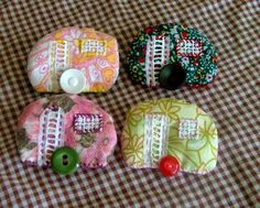 Vintage caravan Brooches by Felt Design