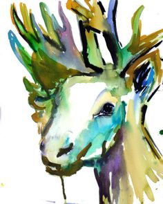 Moose by Jessica Buhman Print of Original by ArtbyJessBuhman, $25.00