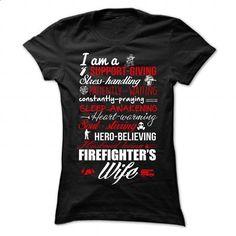 FIREFIGHTERS WIFE - #sweatshirt #long sleeve shirts. ORDER NOW => https://www.sunfrog.com/Faith/FIREFIGHTERS-WIFE-Black-84047553-Ladies.html?60505