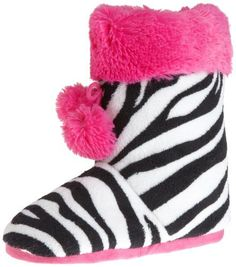 Sweet Juniors Allover Super Plush Short Bootie, Zebra, Large Sweet. $12.99. 100% Polyester. Made in China. With pom pom. Plush with contrast trim. Machine Wash