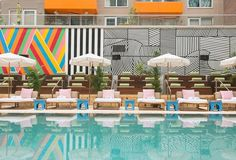 McCarren Hotel & Pool is a Venue in New York, New York, United States, Brooklyn. See photos and contact McCarren Hotel & Pool for a tour. Rooftop Lounge, Pool Lounge, Rooftop Pool, Pool Bar, Best Hotels In Brooklyn, Piscina Do Hotel, Miami Pool, Unusual Hotels, Beach Cabana