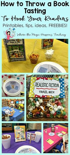 How to Throw a Book Tasting For 2nd Graders. Reading motivation for all readers. Free printables, tips, and ideas.