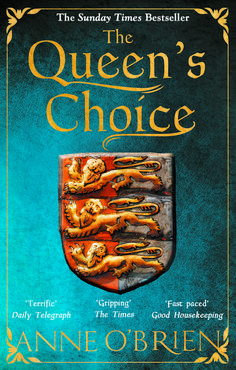 The dramatic cover for the paperback of The Queen's Choice, released May 2016.
