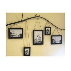 Tree Branch Frames - I could see this working over my piano. I need to find a branch. In the little spaces between the hanging picture you could add some smaller items.
