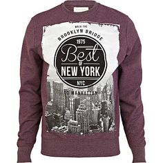 Red best of New York print sweatshirt - sweatshirts - hoodies / sweatshirts - men
