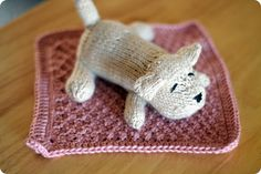 Knitted Puppy... Pattern from Susan B. Anderson